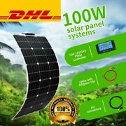 New 100w Solar Panel Kit 18v Home System Battery Car Power Charging Home Outdoor