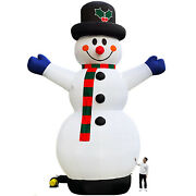 Tkloop 26ft Christmas Inflatable Snowman Lighted Outdoor Yard Decoration Lawn