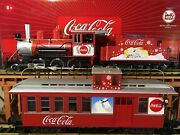 Lgb 25194 And 42755 Coca Cola Polar Bear Steam Engine And Caboose W/ Sound And Lights