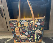 Nwot Disney Dooney And Bourke 2015 Epcot Food And Wine Festival Shopper Tote Bag