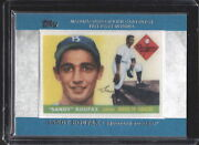 2013 Topps Rookie Card Patch Sandy Koufax Brooklyn Dodgers Card Rcp-4