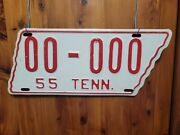 1955 Tennessee Sample License Plate