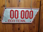 1939 Tennessee Sample License Plate