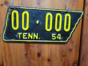 1954 Tennessee Sample License Plate