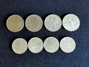 Set Of 8 Rubles Coins Anniversary Of Lenin Ussr 1960s 1 Ruble Ussr