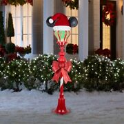 5 Ft Lamppost Door Decoration With Color Changing Led Lights Christmas Decor