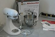 Kitchenaid Artisan Ksm150pswh 10 Speed 5 Qt Stand Mixer Bowl And Attachments 27b