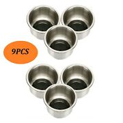 9pcs Boat Cup Drink Holder With Drain Rv Camper Stainless Steel