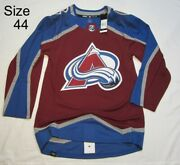 Colorado Avalanche Size 44 Xsmall Prime Green Adidas Nhl Authentic Hockey Jersey