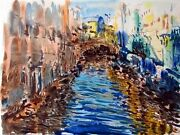 Marco Sassone Santa Lucia Hand Signed And Numbered Serigraph 1990 L@@k