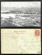 Cristiania Aerial View Oslo Norway Norge Stamp 1908