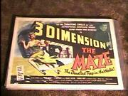 The Maze A 3d Rolled 22x28 Movie Poster And03953 Horror