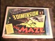 The Maze B 3d Rolled 22x28 Movie Poster And03953 Horror