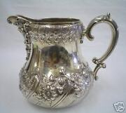 Dominick And Haff Sterling Silver Repousse Pitcher