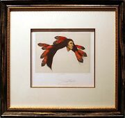 Frank Howell Wind Flower Framed 1986 Hand Signed And Numbered Lithograph L@@k