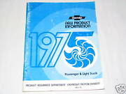 75 Chevrolet Passenger Car Light Truck New Product Information Manual Used 1975