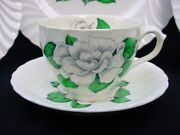 5 Cups And Saucers Gardenia Burleigh Ware Burgess And Leigh
