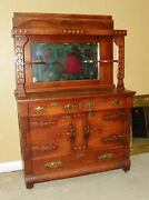 Arts And Crafts Sideboard / Buffet / Hutch