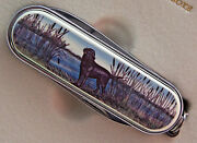 Swiss Knife Barlow Photo Reproduction In Color Lab Labrador Dogs 506516 C New