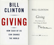 President Bill Clinton Signed Giving 1st Ed Full Letter Psa/dna Autographed New