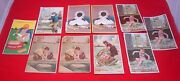 10 Victorian Soap Cards Sunlight Swan Lifebuoy Lux Advertising Trade Art 19th C