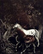 G H Rothe Traditional Standard 1982 Art Hand Signed Horses Limited Edition L@@k