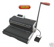 Akiles Coilmac-er+ Coil Binding Machine And Oval Holes Punch With Inserter New