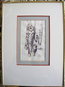 Fine Art Original Ink Wash Painting Road Too Long By Amar Nath Sehgal Signed