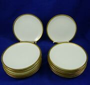 Antique Rs Germany Prussia Bread And Butter Plate Gold Trim Blue Mark China 14 Pcs