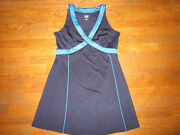 Exquisite Tennis Dress By Tail Royal Blue With Turquoise Crystals M Medium Mustc