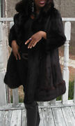 Classy Elegant Grafand039s Brown Russian Sable And Mink Fur Coat Jacket Stroller S-m 8