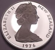 Rare Cameo Proof New Zealand 1976 50 Cents11000 Mintedproofs R Bestfree Ship