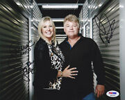 Dan And Laura Dotson Dual Signed 8x10 Photo Storage Wars Psa/dna Autographed