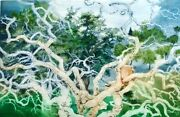 G H Rothe Oakbranches Ii Green Tree Hand Signed On Paper Artworkr L@@k