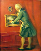 Samuel Seeberger 19th And 20th Century Signed Antique Original Oil Painting C1920