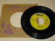 Rock And Roll 45rpm Record - Little Joe And Thrillers - Okeh 7088 W/company Sleeve