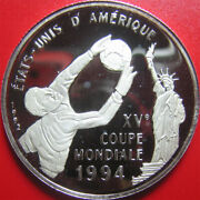 1992 Congo 500 Francs Silver Proof 1994 Fifa World Cup Soccer Statue Of Liberty