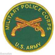 Army Military Police Corps Crossed Pistols 4 Embroidered Mp Branch Patch