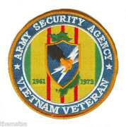 Army Vietnam Veteran Asa Army Security Agency 4 Embroidered Military Patch