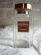 Hermes Paris Equipage Perfume Cologne Factice Giant Display Glass Bottle