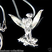 Tinkerbell Made With Crystal Tinker Bell Fairy Angel Necklace Jewelry