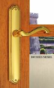 Fpl Chateau Privacy Door Lever Handle Set Right Hand Satin Brushed Nickel