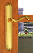 Fpl Chateau Privacy Door Lever Handle Set Right Hand Antique Nickel