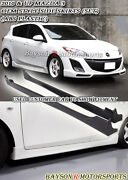 Oe-style Side Skirts Abs Fits 10-13 Mazda 3 4/5dr