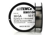Temco Kanthal A1 Wire 30 Gauge 50 Ft Resistance Awg A-1 Ga