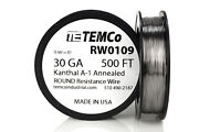 Temco Kanthal A1 Wire 30 Gauge 500 Ft Resistance Awg A-1 Ga