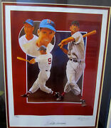 Ted Williams Autographed Lithograph By Artist Christopher Paluso