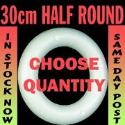 30cm Polystyrene Half Round Rounded Rings Wreaths For Craft Christmas Florist