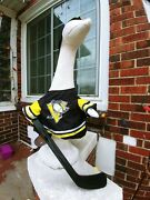 Goose Clothes 4 Lawn Goose Pittsburgh Penguins Hockey Cement Plastic Garden Yell