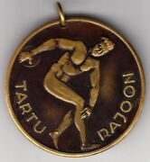 1974 Ussr Russia Soviet Estonia Powerlifting Sports Competition Award Medal